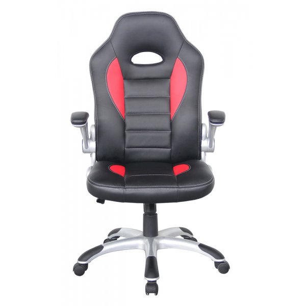 Alphason Talladega Black and Red Leather Executive Chair