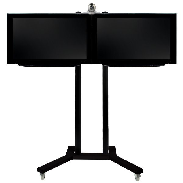 B-Tech Flat Screen Side by Side Display Stand - 1.5m