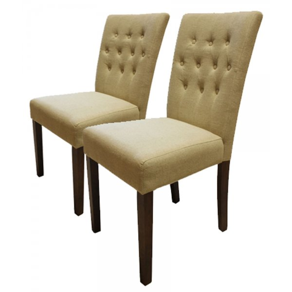 Baumhaus CDR03D Flare Back Upholstered Dining Chairs