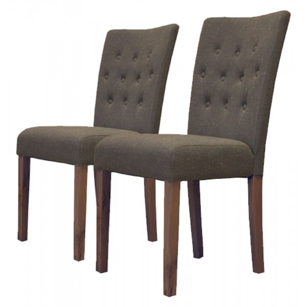 Baumhaus CDR03E Flare Back Upholstered Dining Chairs