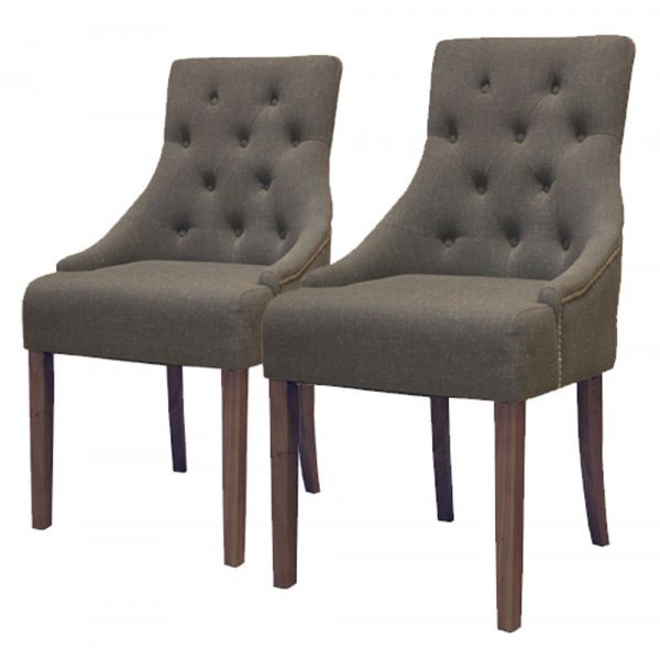 Baumhaus CDR03F Flare Back Upholstered Dining Chairs