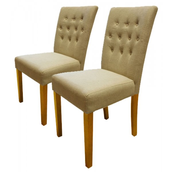 Baumhaus COR03D Flare Back Upholstered Dining Chairs