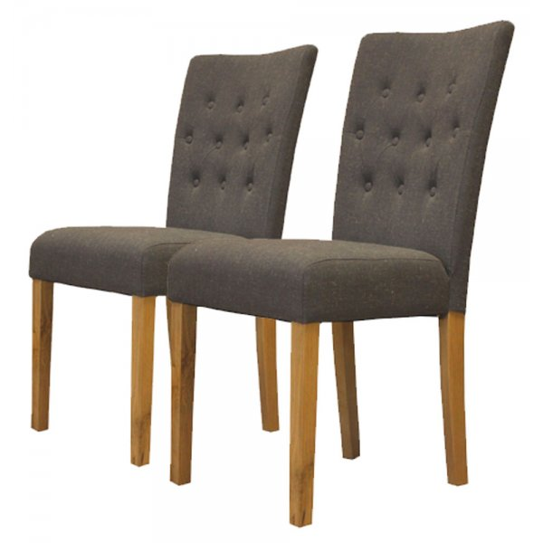 Baumhaus COR03E Flare Back Upholstered Dining Chairs