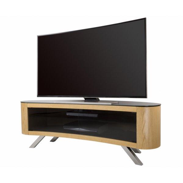 AVF Bay Curved TV Stand in Oak