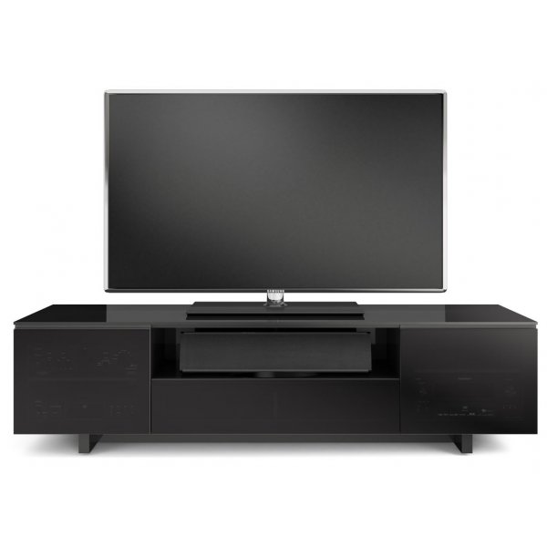 BDI Luxury Nora Slim Gloss Black TV Cabinet