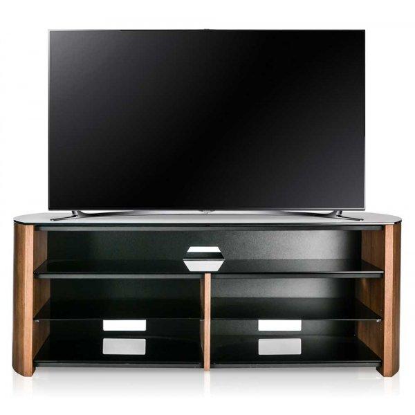 Alphason Finewoods FW1350SB-W Walnut TV Stand with Soundbar Shelf