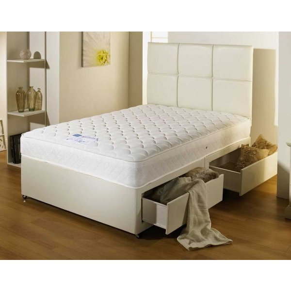 Luxan Serenity Cream 2 Drawers with Headboard 5\'0 Divan
