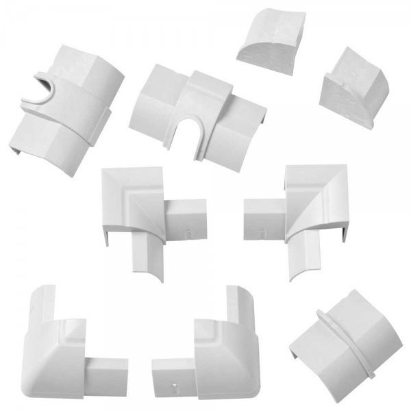 D-Line RETAP22QS White Cable Trunking Accessory kit