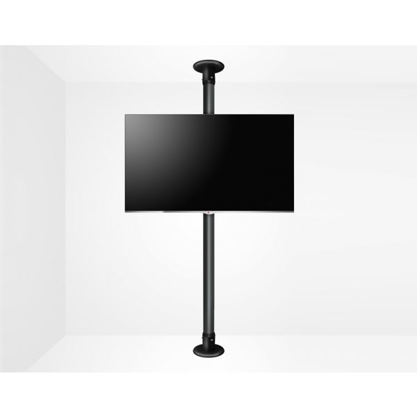 """B-Tech Floor To Ceiling Mount For Up 55\"""" 3m Pole - Black"""