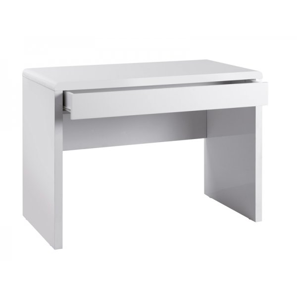 Luxor Home Office Workstation in White Gloss