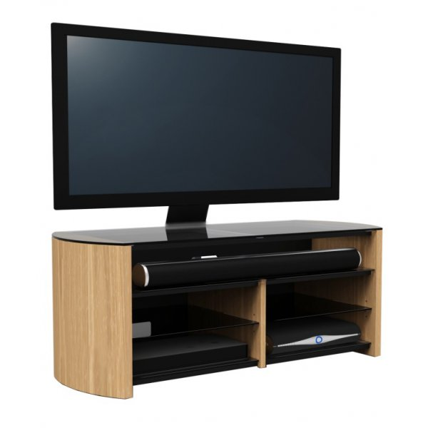 Alphason Finewoods FW1350SB-O Oak Cantilever TV Stand with Soundbar Shelf