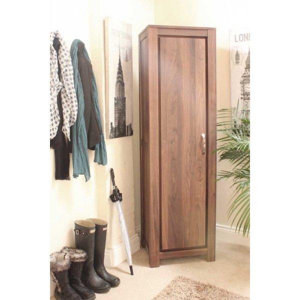 Mayan Walnut Tall Shoe Cupboard