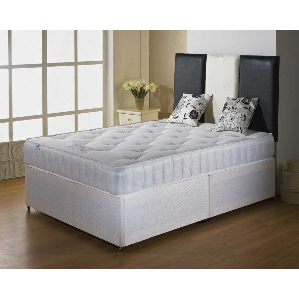 Luxan Classic King Size Bed Set - With Headboard - 2 Drawers