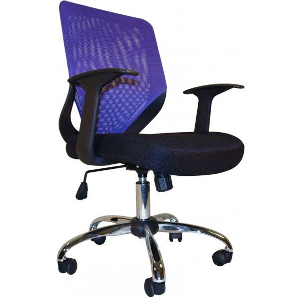 Alphason Atlanta Mesh Back Operator Chair - Black & Purple