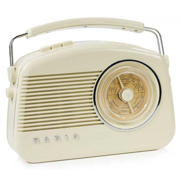 Konig DAB+ Retro Radio in Beige
