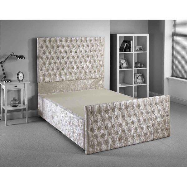 Luxan Provincial Bed Frame - Cream - Double 4ft6 - 2 Drawers