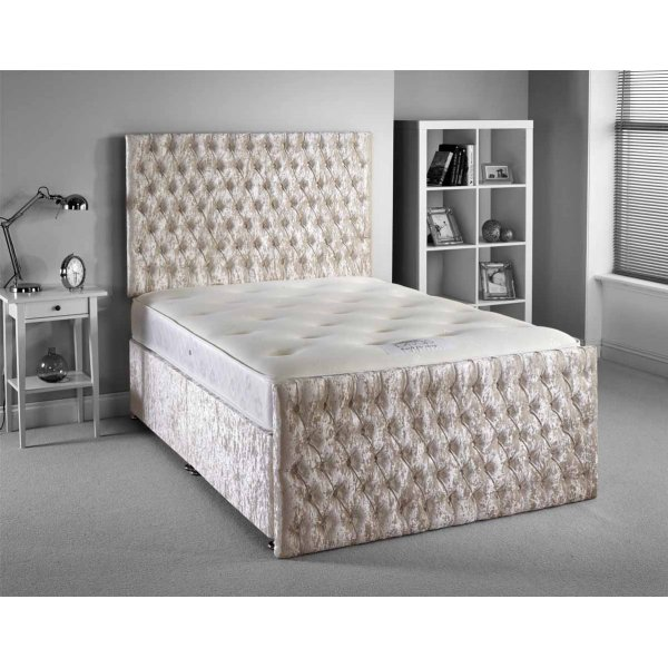 Luxan Provincial Bed Set - Cream - Small Double 4ft - 4 Drawers