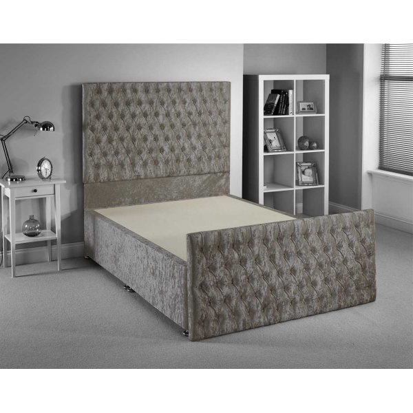 Luxan Provincial Bed Frame - Silver - Superking 6ft - 2 Drawers