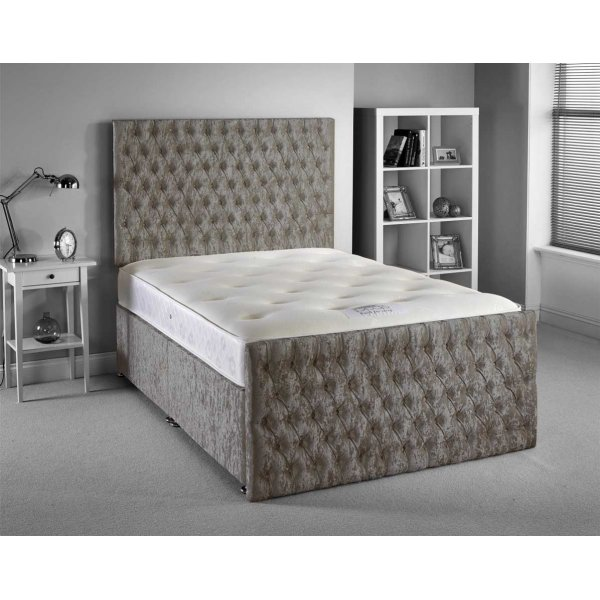Luxan Provincial Bed Set - Silver - King 5ft - 4 Drawers