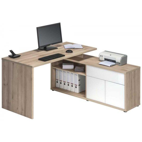 Maja 4020 2656 Maximus Natural Beech Computer Desk and Return