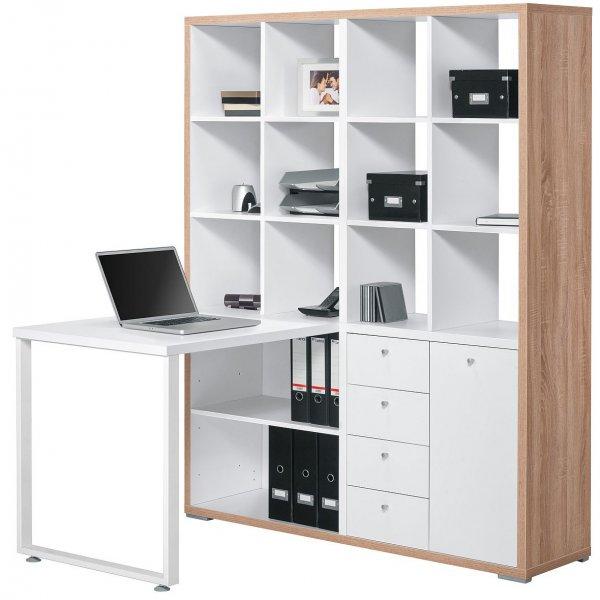 Maja 9560 2539 Sonoma Oak & White Mini Office