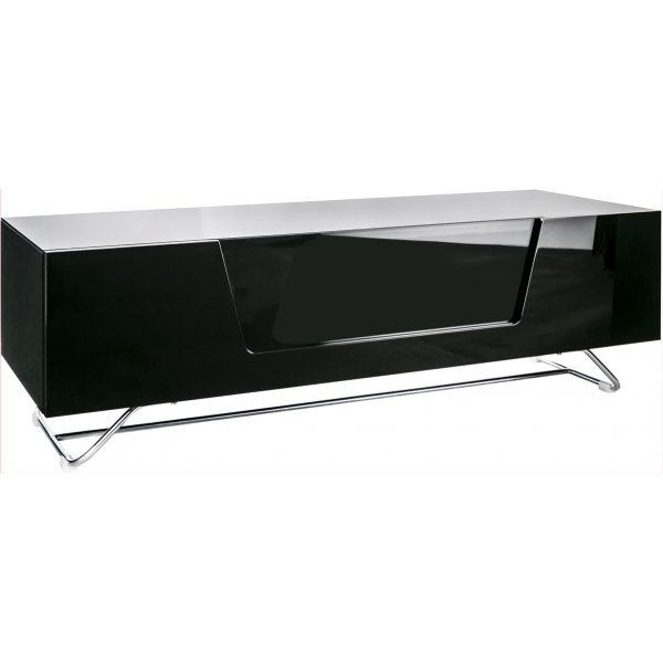 """Alphason Chromium 1200 Black TV Stand for up to 60\"""" TVs"""