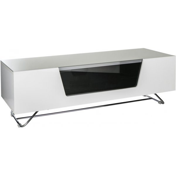"""Alphason Chromium White 1200 TV Stand for up to 60\"""" TVs"""