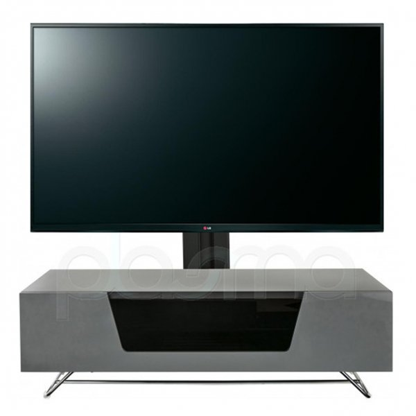 "Alphason Chromium 1200 Grey Cantilever TV Stand for up to 50"" TVs"