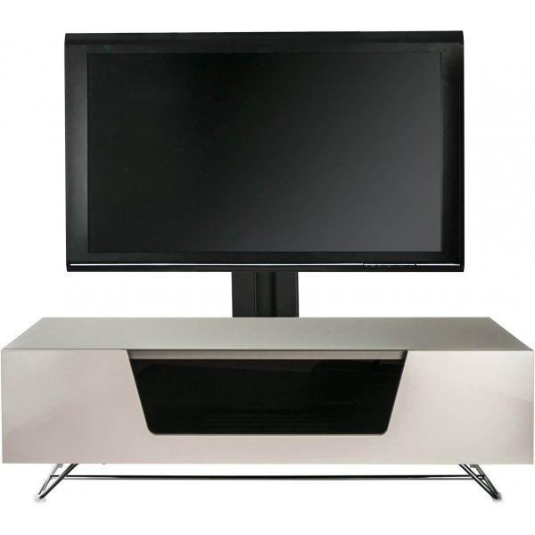 """Alphason Chromium 1200 Ivory Cantilever TV Stand for up to 50\"""" TVs"""
