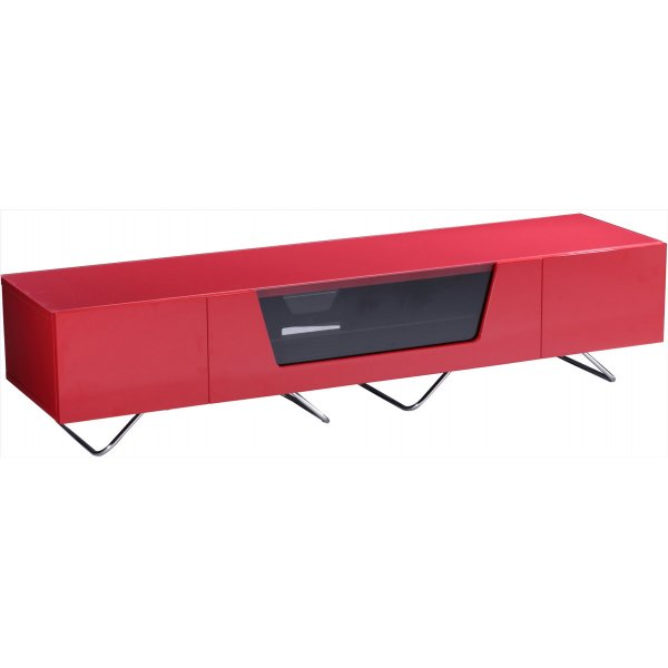 """Alphason Chromium 1600 Red TV Stand for up to 75\"""" TVs"""