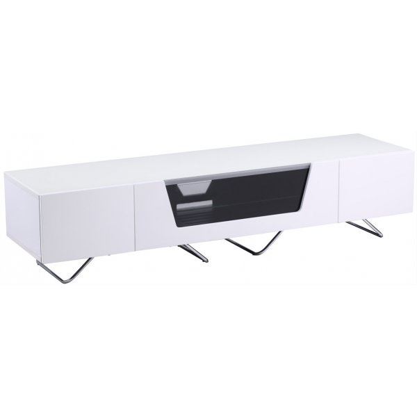 """Alphason Chromium 1600 White TV Stand for up to 75\"""" TVs"""