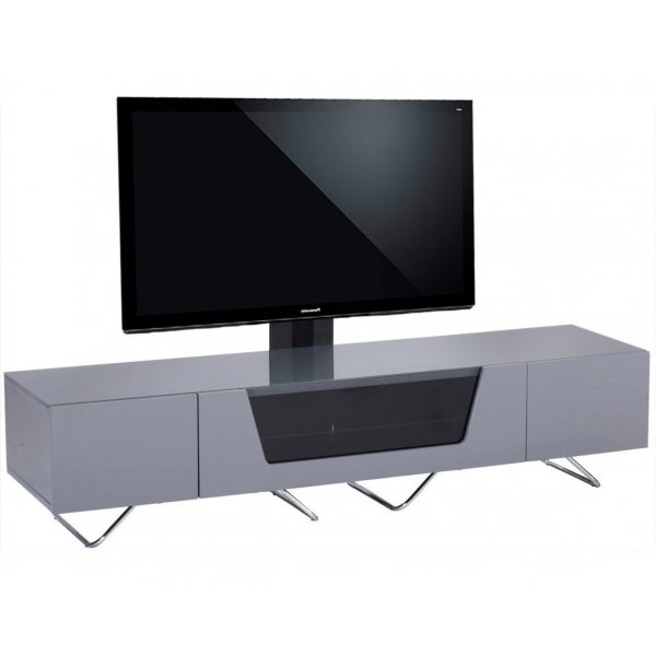 """Alphason Chromium 1600 Grey Cantilever TV Stand for up to 50\"""" TVs"""