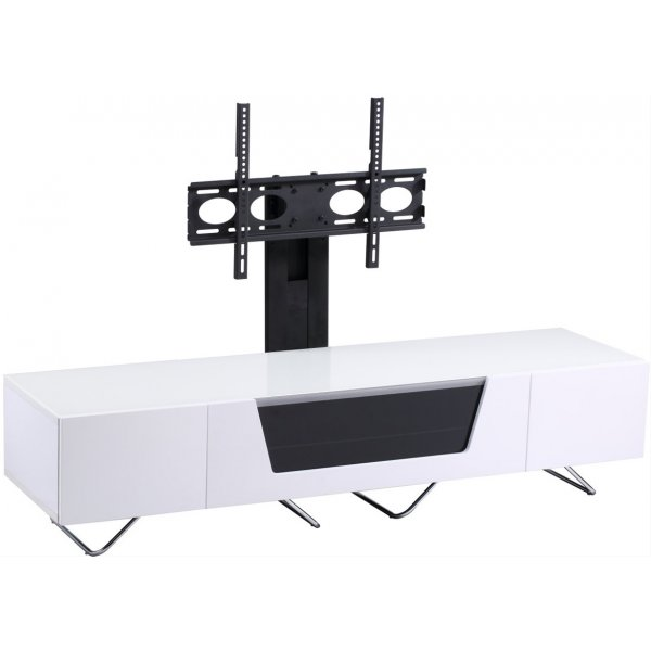 "Alphason Chromium 1600 White Cantilever TV Stand for up to 50"" TVs"