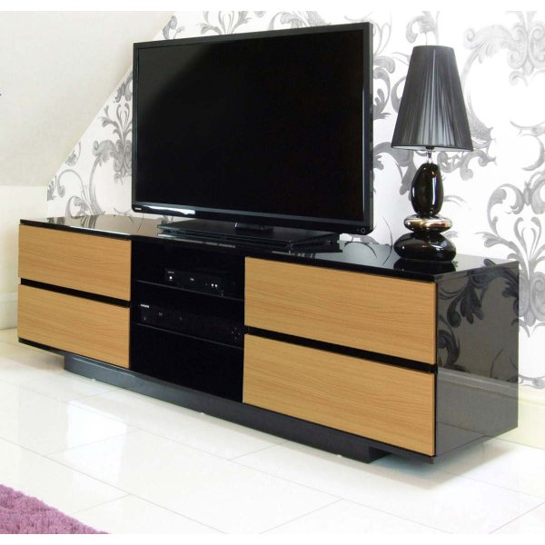 MDA Avitus Black and Oak TV Cabinet