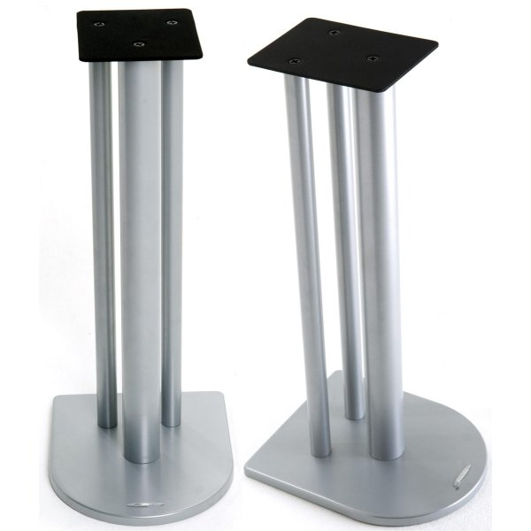 Atacama Nexus Speaker Stands in Silver - 600m