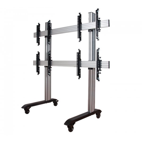 """B-Tech System X Mobile Video Wall Mount - 2x2 For 60\"""" Screens"""