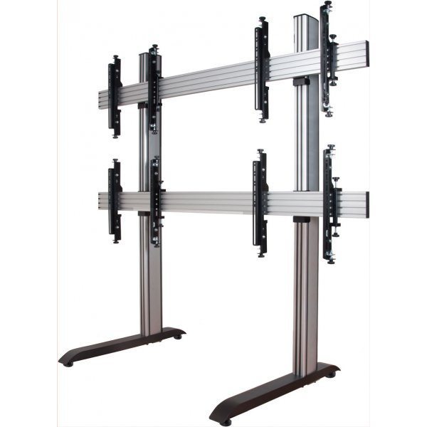 """B-Tech System X Video Wall Mount with MicroAdjust Arms - 2x2 For 46\"""" TVs"""
