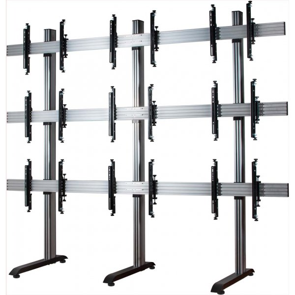 """B-Tech System X Video Wall Mount with MicroAdjust Arms - 3x3 For 46\"""" Screens"""