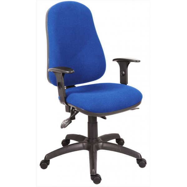 Teknik Ergo Comfort Executive Operator Desk Chair - Blue - With Arms