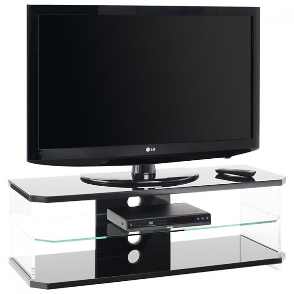 AVF AI110B Air Gloss Black, Acrylic & Glass TV Unit For TVs up to 55""