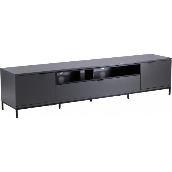 """Alphason Chaplin 2000 TV Stand for TVs up to 90\"""" - Charcoal"""
