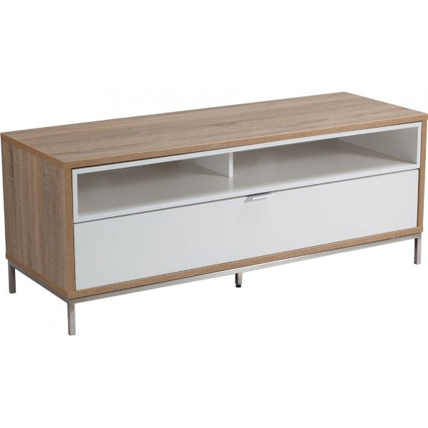 """Alphason Chaplin 1135 TV Stand for TVs up to 60\"""" - Oak & White"""