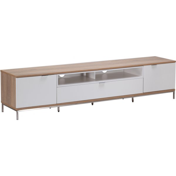 """Alphason Chaplin 2000 TV Stand for TVs up to 90\"""" - Oak & White"""