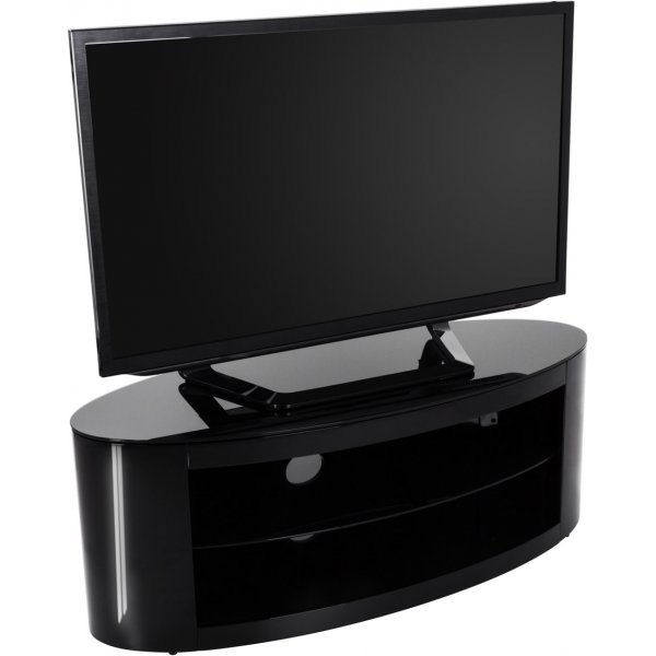 """AVF Buckingham FS1100BUCSB Black TV Stand for up to 55\"""""""