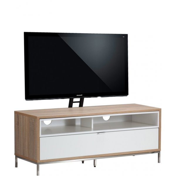 """Alphason Chaplin 1135 Cantilever Stand for TVs up to 65\"""" - Oak & White"""