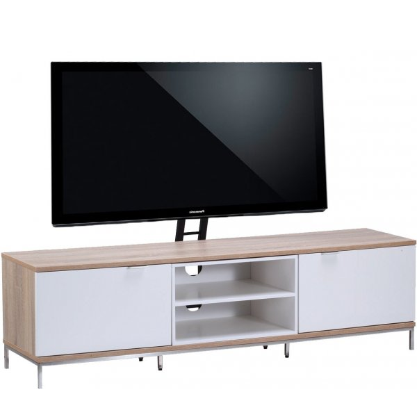 """Alphason Chaplin 1600 Cantilever Stand for TVs up to 65\"""" - Oak & White"""