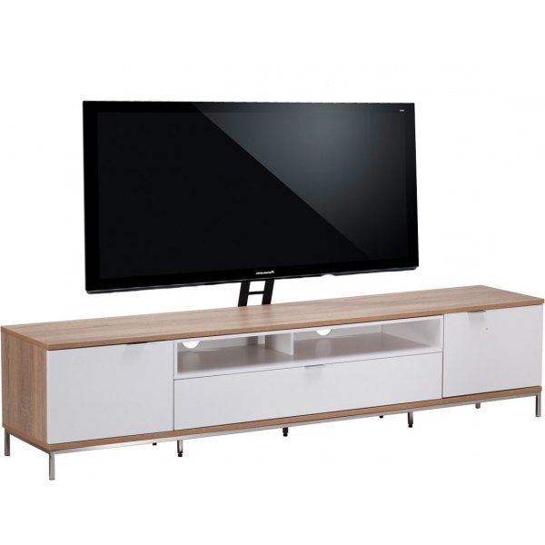 """Alphason Chaplin 2000 Cantilever Stand for TVs up to 65\"""" - Oak & White"""