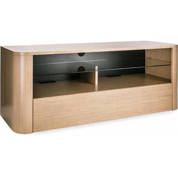 "Alphason Hugo 1260 TV Stand for TVs up to 60\"" - Light Oak"