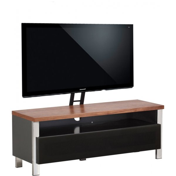 """Alphason Regent 1200 Cantilever Stand for TVs up to 65\"""" - Walnut"""