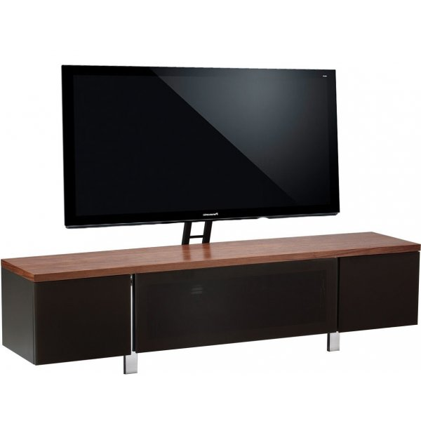 """Alphason Regent 1800 Cantilever Stand for TVs up to 72\"""" - Walnut"""